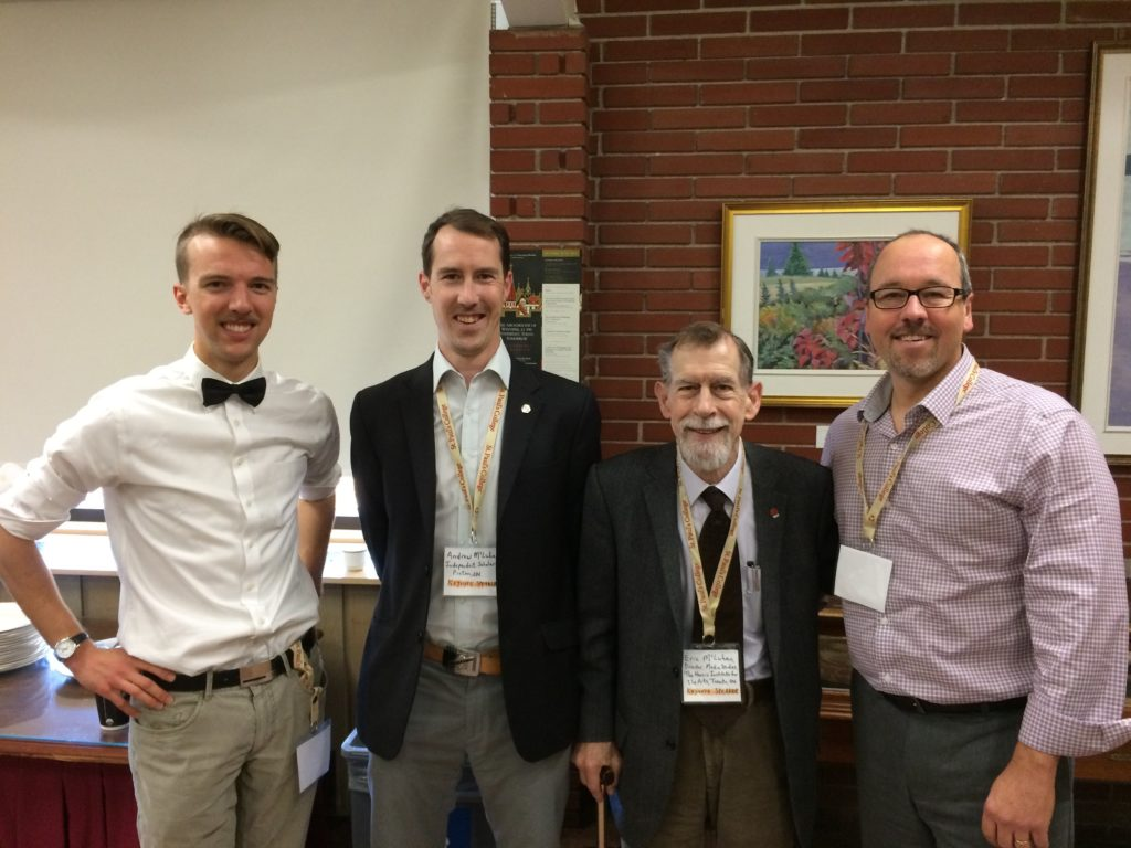 L to R: Jonas Cornelsen, Andrew McLuhan, Eric McLuhan, David Balzer